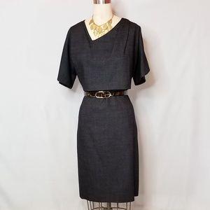 Hugo Boss Virgin Wool Pencil Dress